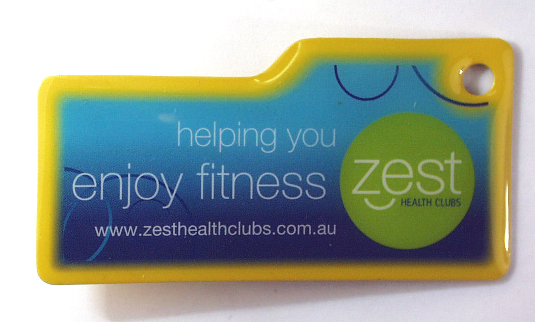helping you enjoy fitness zest HEALTH CLUBS Key Rings